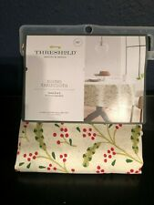 "Threshold WinterBerry Tablecloth 70"" Round Holiday Christmas Fabric"