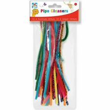 """50 X Kids Mixed Colours Glitter Chenille Pipe Cleaners Stems Art Craft 12"""" 30cm"""