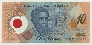 Brazil 10 Reais 2000 Pick 248.a UNC Uncirculated Banknote