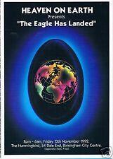 HEAVEN ON EARTH Rave Flyer Flyers 13/11/92 A5 Birmingham The Hummingbird