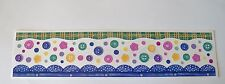 Creative Memories Great Lengths Sticker Strips~Multi Color Buttons & Borders~New