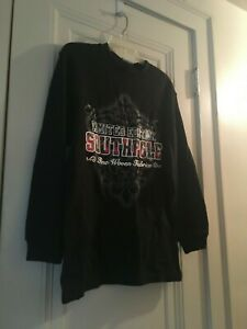 Boys Size L 16 18 Southpole NWT Black Pullover Sweater Red White Gray Trim