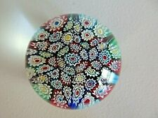 Vintage Murano Art Glass Concentric Millefiori Paperweight