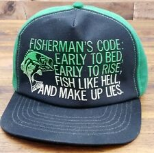 Vintage Fishing Snapback Trucker Hat Cap Made in the USA