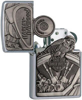 Zippo Harley Davidson Motorcycle Engine& Parts Windproof Lighter 11799