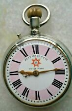 WEST END WATCH CO HALIFAX XL WINDING POCKET WATCH PORCELAIN DIAL VINTAGE