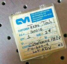 CVI LASER CORPORATION INTERFERENCE FILTER 600+/- 10 nm OPTICS AND PHOTONICS LAB