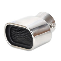 Universal CURVED Exhaust  Rear Tailpipe End<58mm Fit For Toyota Prius Ford Focus