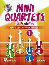 Mini Quartets 1 for 4 violins Open strings, first and second finger Violin Sarah