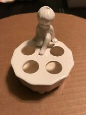 Vintage Ceramic Toothbrush Holder Small Boy Made in Japan Bath
