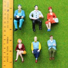 Modélisme éch G - 6 Figurines assises Peintes (Train de jardin) Superbes modèles