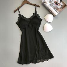 Sexy Lingerie Women Silk Lace Robe Dress Babydoll Nightdress Sleepwear Kimono