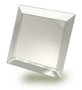 4 Inch Square Beveled Mirror - Pack of 6