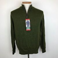 NWT, Orvis Classic Fit Quarter Zip Wool Mens Pullover Sweater Select Size Color