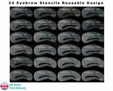 24 Eyebrow Stencils Shaping Grooming Brow Make Up Set Template Reusable UK