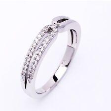 Elegant Designer Cubic Zirconia CZ 925 Sterling Silver Ladies Stacking Ring Gift