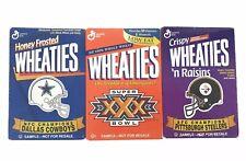 NFL SUPER BOWL XXX / COWBOYS / STEELERS 3 PACK MINI WHEATIES BOX Sealed 1996