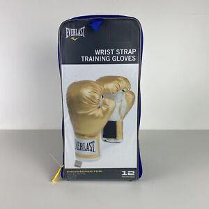 EVERLAST  Gold Wrist Strap Training Boxing Gloves NEW Model P00000161 Sparring