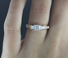 $2,299 Zales 14K Yellow Gold 1.00ct Princess Diamond Engagement Ring Band 5.25