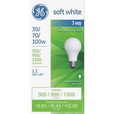 8 Pack GE Lighting 30 70 100 W Watt A21 3-way Soft White Table Lamp Light Bulb