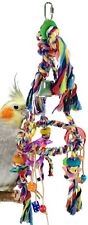 827 Rainbow Tri Rope Swing parrot cage toys cages parakeet conure cockatiel pet