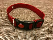 J-Pets Usa Replacement Nylon Dog Collar For PetSafe Non-visible Fence- Red Small