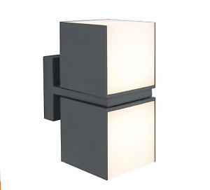 LUTEC Cuba LED Anthracite OutDoor Cuboid Multi Direction Wall Light   5193801118