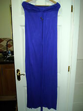 Ladies River Island Size M Blue Maxi Dress