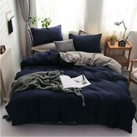 3D Navy Blue Gray Solid Color KEP7068 Bed Pillowcases Quilt Duvet Cover Kay