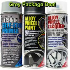 E-Tech Professional GREY Car Alloy Wheel Spray Paint Lacquer Self Etch Primer