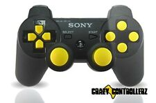 PS3 Playstation 3 Modded Controller Rapid Fire Jitter Mod Black Ops 2 Yellow