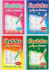 SUDOKU POCKET BOOKS ADULT SUDUKO PUZZLES A5 SPIRAL BOUND SET NEW SERIES 3125