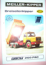 Sales BrochureOriginal Prospekt LKW FIAT 260 PAC Meiller-Kipper Dreiseitenkipper