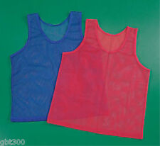 24 Mesh Scrimmage Vests Youth Team Jersey Sport Practice Red Blue Pinnies Lot