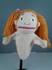 Child's small girl puppet with orange pigtails
