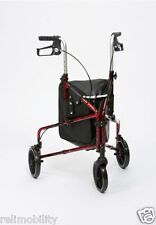 Flame Ultra Lightweight Aluminium Tri Walker - Walking Aid - Mobility Aid - Red