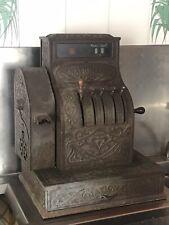 Très Ancienne Caisse Enregistreuse National 1900 Tout Laiton Deco Loft Atelier