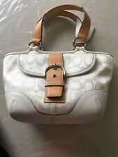 COACH SM TOTE WITH BUCKLE * WHITE/SILVER BRAND NEW