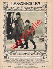 Les annales n°2168 du 11/01/1925 Geny Émir Saïd Damas Syrie Gustave Le Bon
