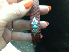 7 1/2 Bracelet Turquoise Sterling Leather