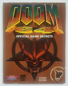 1997 Doom 64 Official Game Secrets STRATEGY CHEATS GUIDE PAPERBACK BOOK