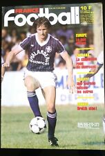 France Football 13/11/1984 Specht/ Chalana/ Fc Sochaux/ Dinamo Bucarest-Bordeaux