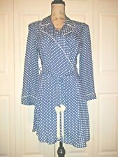 ec8e75796b Vintage 1940 s Schildu Silk Polka Dot Lounge Short Wrap Hollywood Robe