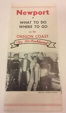 Newport What To Do Where To Go On The Oregon Coast 1955 Travel Brochure