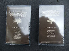 THE GREATEST COUNTRY MUSIC RECORDINGS OF ALL TIME -- THE OUTLAWS---2 CASSETTES