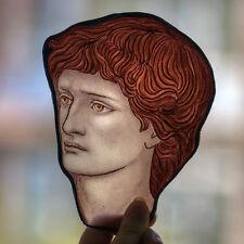 Male face stained glass fragment, preraphaelites, glasspainting, Burne Jones