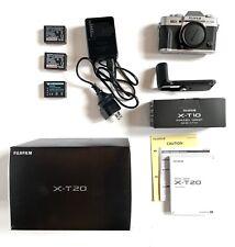 Fujifilm X-T20 24.3MP Mirrorless Digital Camera - Silver, With X-t10 Grip