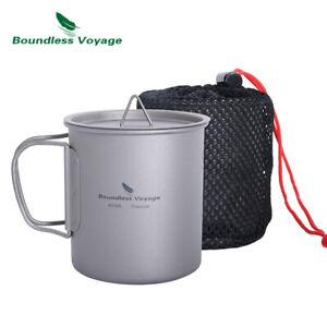 Titanium Coffee Cup with Lid Outdoor Camping Ultralight Water Tea Mug 300/450ml