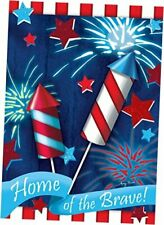 Toland Home Garden Home Of The Brave 12.5 x 18 Inch Decorative Patriotic Summer