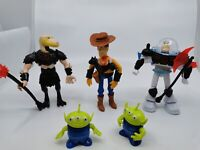 Toy Story Action Figure  Woody Buzz Lightyear  Reptillus Alien set 5 16cm
